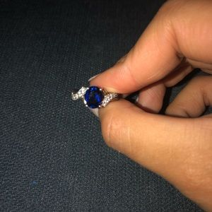 Helzberg Blue Sapphire Ring